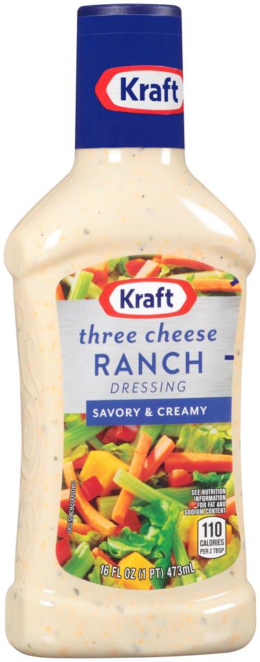 Kraft Three Cheese Ranch Dressing 16 fl. oz. Bottle
