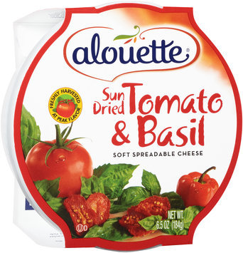 Alouette® Sun Dried Tomato & Basil Soft Spreadable Cheese 6.5 oz. Tub