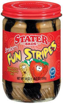 Stater Bros. Strawberry Fun Stripes Peanut Butter & Jelly 18 Oz Jar