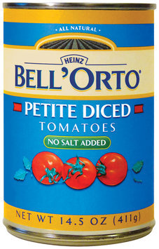 BELL'ORTO Petite Diced No Salt Added Tomatoes 14.5 OZ CAN