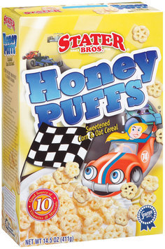 Stater Bros. Honey Puffs Cereal 14.5 Oz Box
