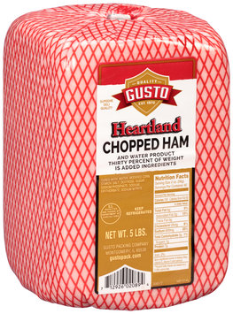 Gusto Heartland Chopped Ham and Water Product 5 lb. Package