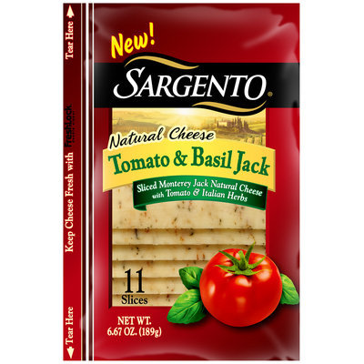 Sargento® Natural Sliced Tomato & Basil Jack Cheese 11 ct Bag
