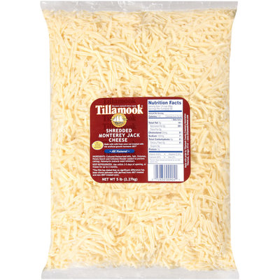 Tillamook Monterey Jack Shredded Cheese 5 Lb Bag