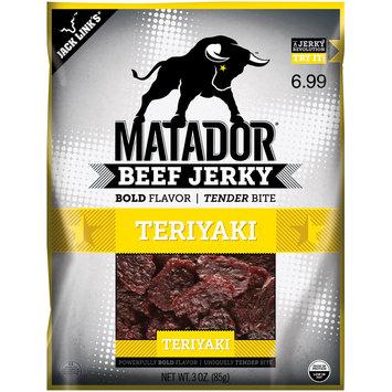 Matador® Teriyaki Beef Jerky $6.99 Prepriced 3 oz. Bag