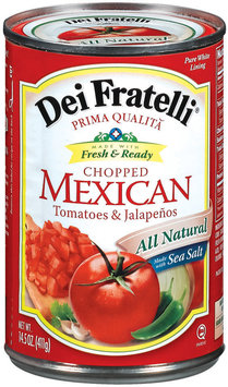 Dei Fratelli Mexican Chopped Tomatoes 14.5 Oz Can
