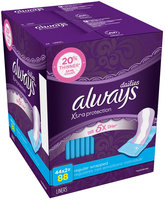 Dri-Liners Always Xtra Protection Daily Liners Wrapped, Regular 88 Count