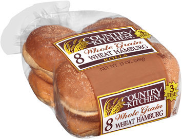 Country Kitchen® Whole Grain Wheat Hamburg Rolls 8 ct Pack