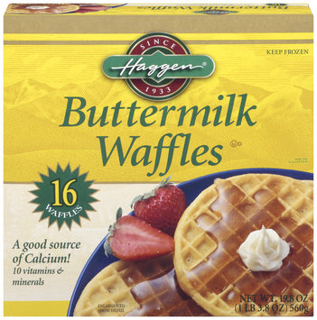 Haggen Buttermilk 16 Ct Waffles 19.8 Oz Box