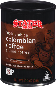 Stater Bros.® Colombian Medium Roast Ground Coffee 10.3 oz. Canister