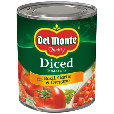 Del Monte® Diced Tomatoes with Basil Garlic & Oregano 28 oz. Can