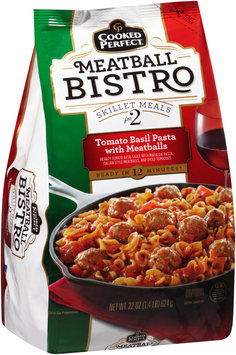 Cooked Perfect® Meatball Bistro Tomato Basil Pasta with Meatballs 22 oz. Bag