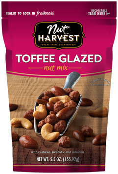 Nut Harvest™ Toffee Glazed Nut Mix 5.5 oz. Bag