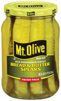 Mt. Olive Bread & Butter Spears Old Fashioned Sweet Pickles 16 Fl Oz Jar