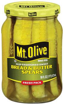 Mt. Olive Bread & Butter Spears Old Fashioned Sweet Pickles 16 Fl Oz Jar