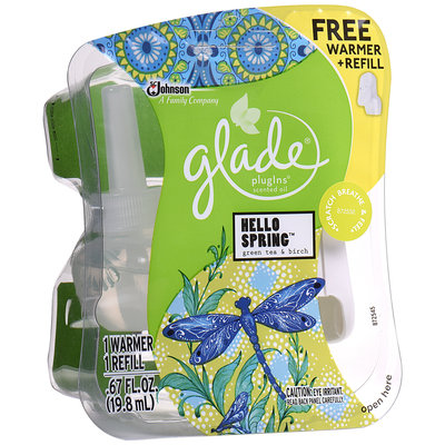 Glade® PlugIns® Hello Spring™ Scented Oil Refill 0.67 fl. oz. + Bonus Warmer Pack