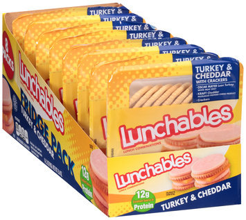 Lunchables Turkey & Cheddar with Crackers Lunch Combination 8-3.2 oz. Trays