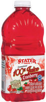 Stater Bros. Unsweetened Cranberry Juice 64 Oz Plastic Bottle