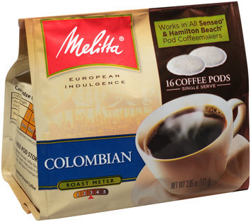 Melitta® Colombian Coffee Pods for Senseo & Hamilton Beach Pod Brewers 16 ct Bag
