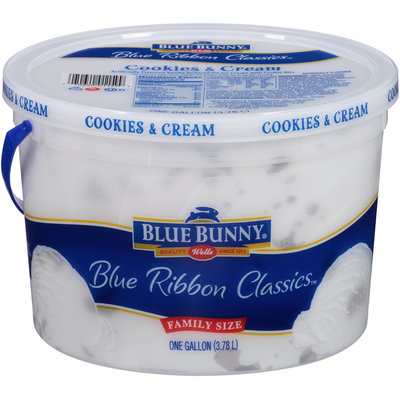 Blue Bunny® Blue Ribbon Classics™ Cookies & Cream Reduced Fat Ice Cream 1 gal. Tub