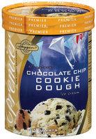 Haggen Chocolate Chip Cookie Dough Premier Ice Cream 1.75 Qt Tub
