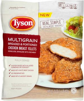 Tyson® Multigrain Breaded & Portioned Chicken Breast Fillets 23 oz. Bag