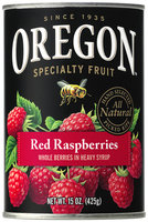 Oregon Fruit Products® Red Raspberries in Heavy Syrup 15 oz. Can