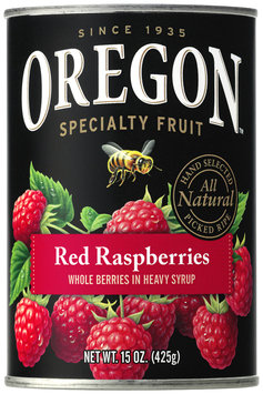 Oregon Fruit Products® Red Raspberries in Heavy Syrup