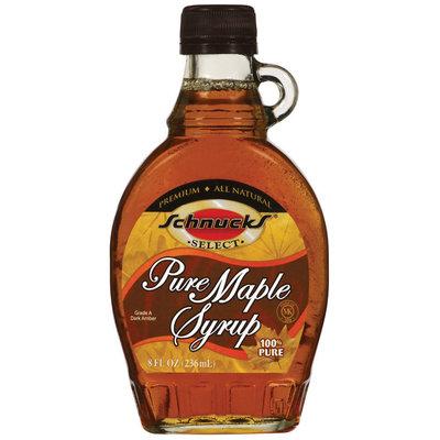 Schnucks Pure Maple Syrup 8 Fl Oz Glass Bottle