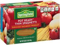 Springfield® Pot Ready™ Thin Spaghetti 16 oz. Box