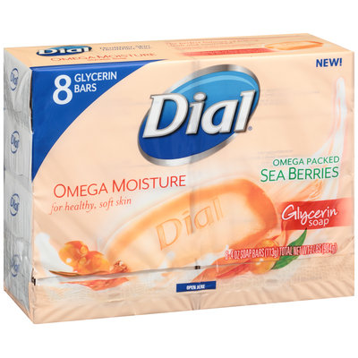 Dial® Omega Packed Sea Berries Glycerin Soap 8-4 oz. Bars