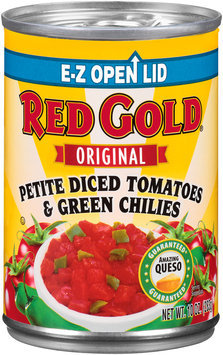 Red Gold® Original Petite Diced Tomatoes & Green Chilies 10 oz. Can