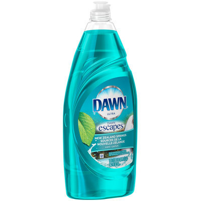 Dawn Escapes Dishwashing Liquid New Zealand Springs