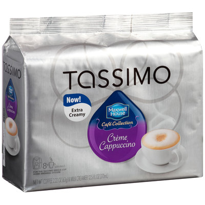 Tassimo Maxwell House Cafe Collection Creme Cappuccino T Discs 8 ct. Espresso & 8 ct. Milk Creamer