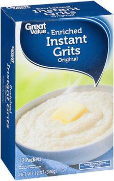 Great Value™ Original Enriched Instant Grits 12 oz. Box