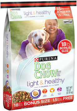 Purina Dog Chow Light & Healthy Dog Food Bonus Size 18 lb. Bag