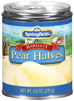Springfield® Bartlett Pear Halves in Heavy Syrup 8.5 oz. Can