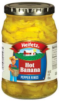 Heifetz Hot Banana  Pepper Rings 16 Fl Oz Jar