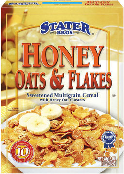 Stater Bros. Sweetened Multigrain Cereal W/Honey Oat Clusters Honey Oats & Flakes 16 Oz Box