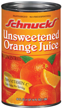 Schnucks Unsweetened Orange Juice 46 Oz Can