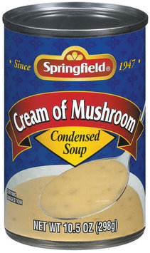Springfield Cream of Mushroom Condensed Soup 10.5 Oz Can