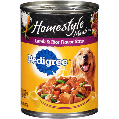 Pedigree® Homestyle Meals™ Lamb & Rice Flavor Stew Dog Food