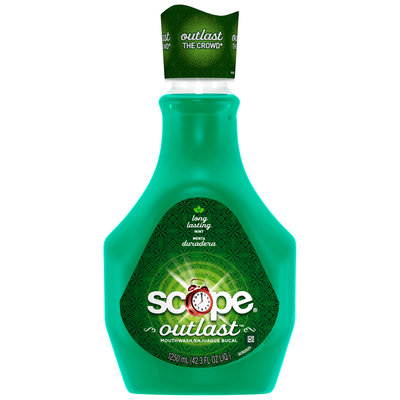 Scope Outlast Long Lasting Mint Flavor Mouthwash 1.25L Bottle