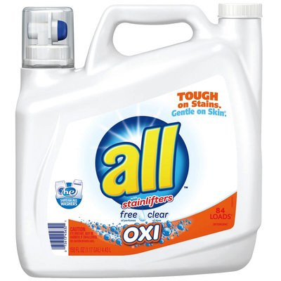 all® free clear OXI Laundry Detergent 84 Loads 150 fl. oz. Bottle