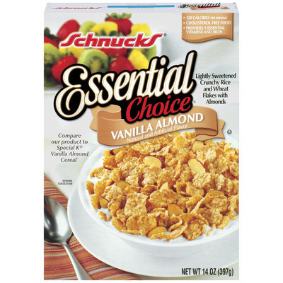 Schnucks Essential Choice Vanilla Almond Cereal 14 Oz Box