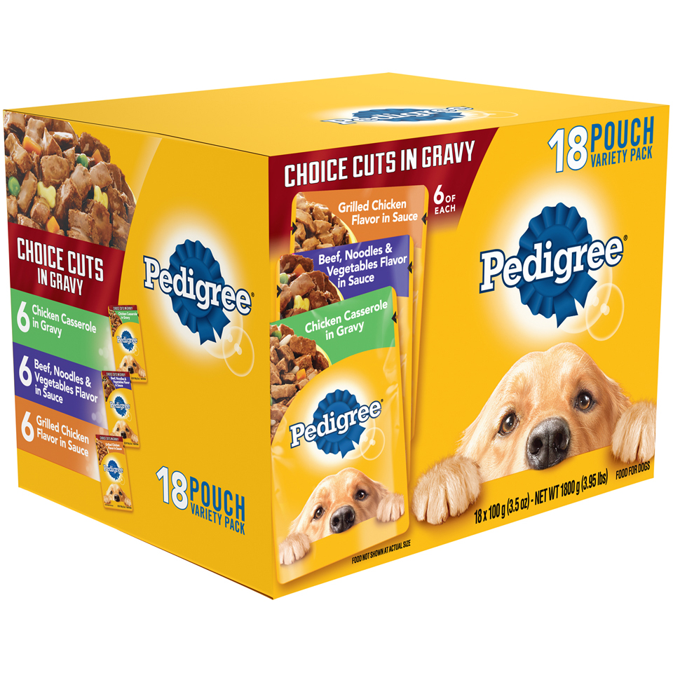 Pedigree® Variety Pack Choice Cuts in Gravy Wet Dog Food 18 ct Pouch