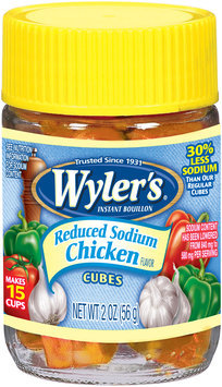Wyler's® Reduced Sodium Chicken Flavor Instant Bouillon Cubes 2 oz. Jar