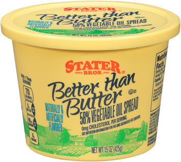 Stater Bros.® Better than Butter 58% Vegetable Oil Spread 15 oz. Tub