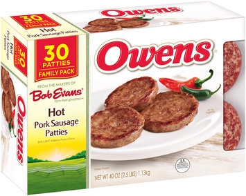 Owens® Hot Pork Sausage Patties 30 ct Box