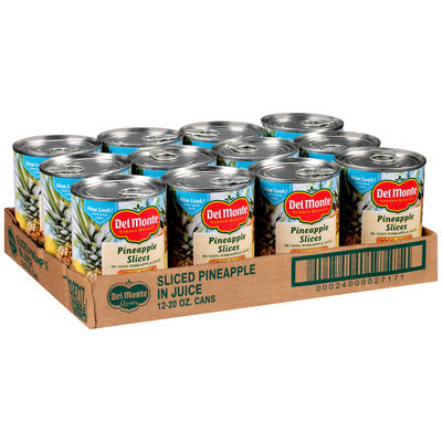 Del Monte™ Pineapple Slices in 100% Pineapple Juice 12-20 oz. Cans
